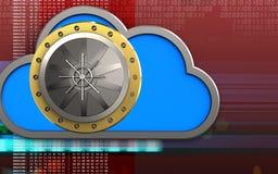nube de la nube 3d Ilustración del Vector