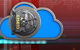 nube de la nube 3d Imágenes de archivo libres de regalías