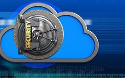 nube de la nube 3d Imagen de archivo libre de regalías