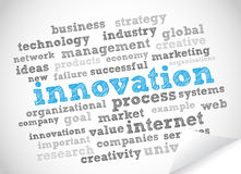 Nube de la etiqueta de la innovación Foto de archivo libre de regalías