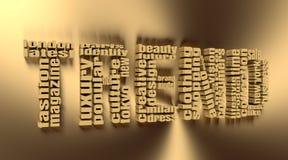 Nube de la etiqueta de las palabras claves de la moda Imagenes de archivo