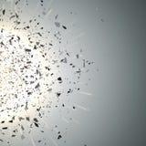 Nube de la explosión de pedazos negros Vector Imagen de archivo