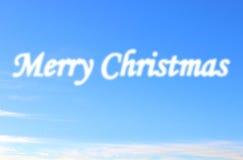 Nube de la Feliz Navidad imagenes de archivo