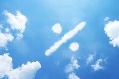 Nube de la forma del porcentaje foto de archivo