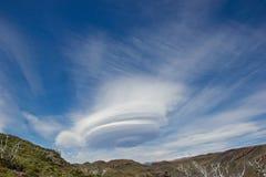 Nube de la lente en Suramérica fotografía de archivo