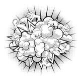 Nube de la lucha del cómic Fotos de archivo