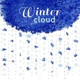 Nube de la nieve del invierno Foto de archivo libre de regalías