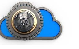 nube de la nube 3d Imagen de archivo