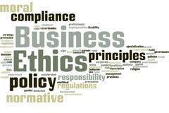 Nube de la palabra de la ética empresarial ilustración del vector