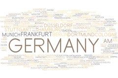 Nube de la palabra de Alemania stock de ilustración
