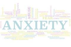 Nube de la palabra de la ansiedad libre illustration