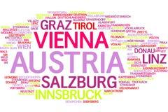 Nube de la palabra de Austria stock de ilustración