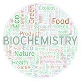 Nube de la palabra de la bioquímica libre illustration