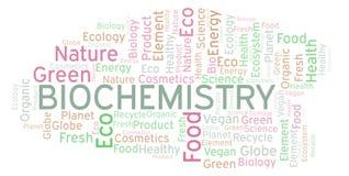 Nube de la palabra de la bioquímica stock de ilustración