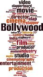 Nube de la palabra de Bollywood ilustración del vector