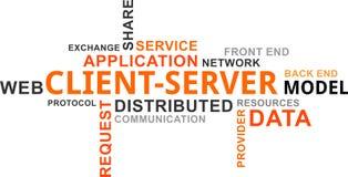 Nube de la palabra - client-server model Imagenes de archivo