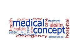 Nube de la palabra - concepto médico Stock de ilustración