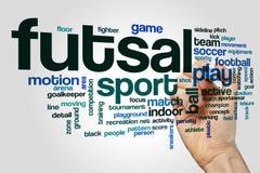 Nube de la palabra de Futsal Imagenes de archivo