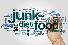 Nube de la palabra de Junk Food foto de archivo