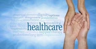 Nube de la palabra de la atención sanitaria fotos de archivo