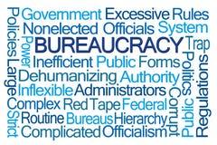 Nube de la palabra de la burocracia Imagen de archivo libre de regalías