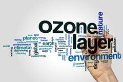Nube de la palabra de la capa de ozono Foto de archivo libre de regalías