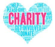 Nube de la palabra de la caridad Imagen de archivo
