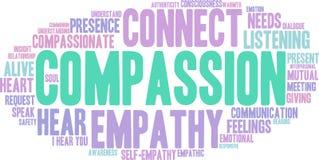 Nube de la palabra de la compasión stock de ilustración