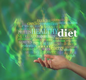 Nube de la palabra de la dieta sana Fotografía de archivo libre de regalías