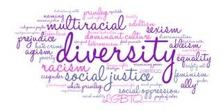 Nube de la palabra de la diversidad Imagen de archivo
