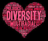 Nube de la palabra de la diversidad Imagen de archivo libre de regalías