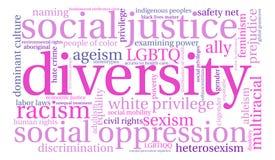 Nube de la palabra de la diversidad Foto de archivo libre de regalías