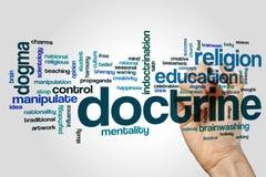 Nube de la palabra de la doctrina imagen de archivo