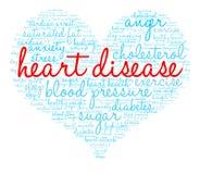 Nube de la palabra de la enfermedad cardíaca Fotos de archivo libres de regalías