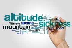 Nube de la palabra de la enfermedad de altitud Foto de archivo