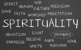 Nube de la palabra de la espiritualidad Imágenes de archivo libres de regalías