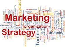 Nube de la palabra de la estrategia de marketing Foto de archivo