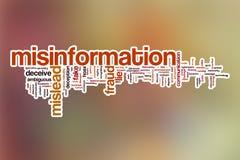 Nube de la palabra de la información falsa con el fondo abstracto fotos de archivo libres de regalías