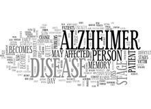 Nube de la palabra de la investigación de Alzheimer ilustración del vector