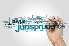Nube de la palabra de la jurisprudencia imagen de archivo