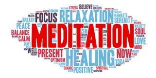 Nube de la palabra de la meditación Imagen de archivo