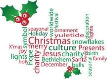 Nube de la palabra de la Navidad Imágenes de archivo libres de regalías