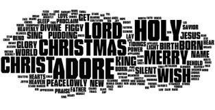 Nube de la palabra de la Navidad Fotografía de archivo