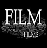 Nube de la palabra de la película Foto de archivo