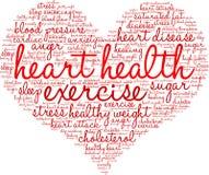 Nube de la palabra de la salud del corazón Imagen de archivo libre de regalías