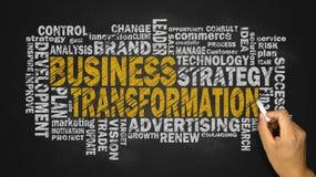Nube de la palabra de la transformación del negocio Imagen de archivo libre de regalías