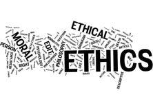 Nube de la palabra de los éticas Fotos de archivo libres de regalías