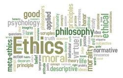 Nube de la palabra de los éticas ilustración del vector