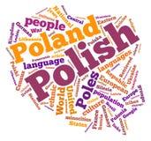 Nube de la palabra de Polonia Imágenes de archivo libres de regalías