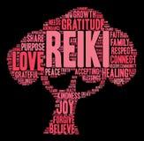 Nube de la palabra de Reiki Imagen de archivo libre de regalías